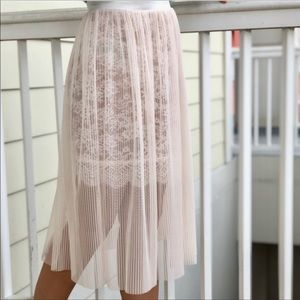 ❤️NWT Victoria's Secret Tulle & Lace Skirt